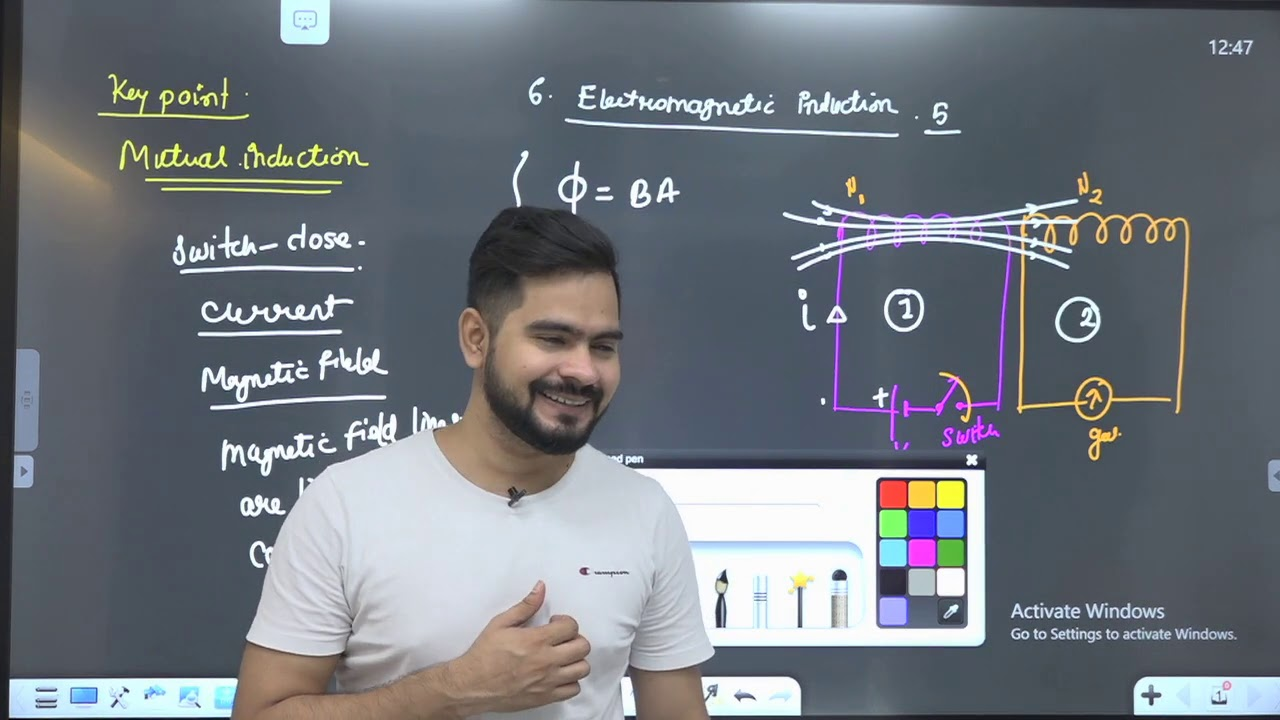 5 mutual induction || electromagnetic induction || by ssp sir