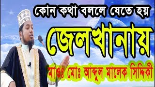 2018 New Bangla Waz Abdul malek siddiki islamic waz bangla waz tv bangla জেলখানায়