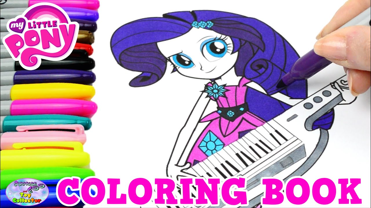 my little pony coloring book mlp eg rarity colors episode surprise