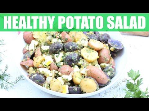 Healthy Potato Salad  | Clean & Delicious
