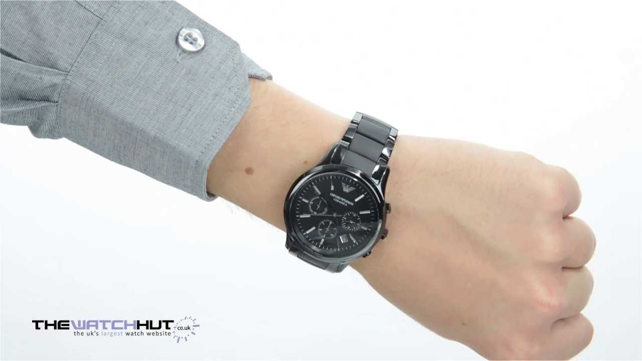Emporio Armani Black Ceramica Chronograph Watch AR1452 - YouTube 8032f342fc43