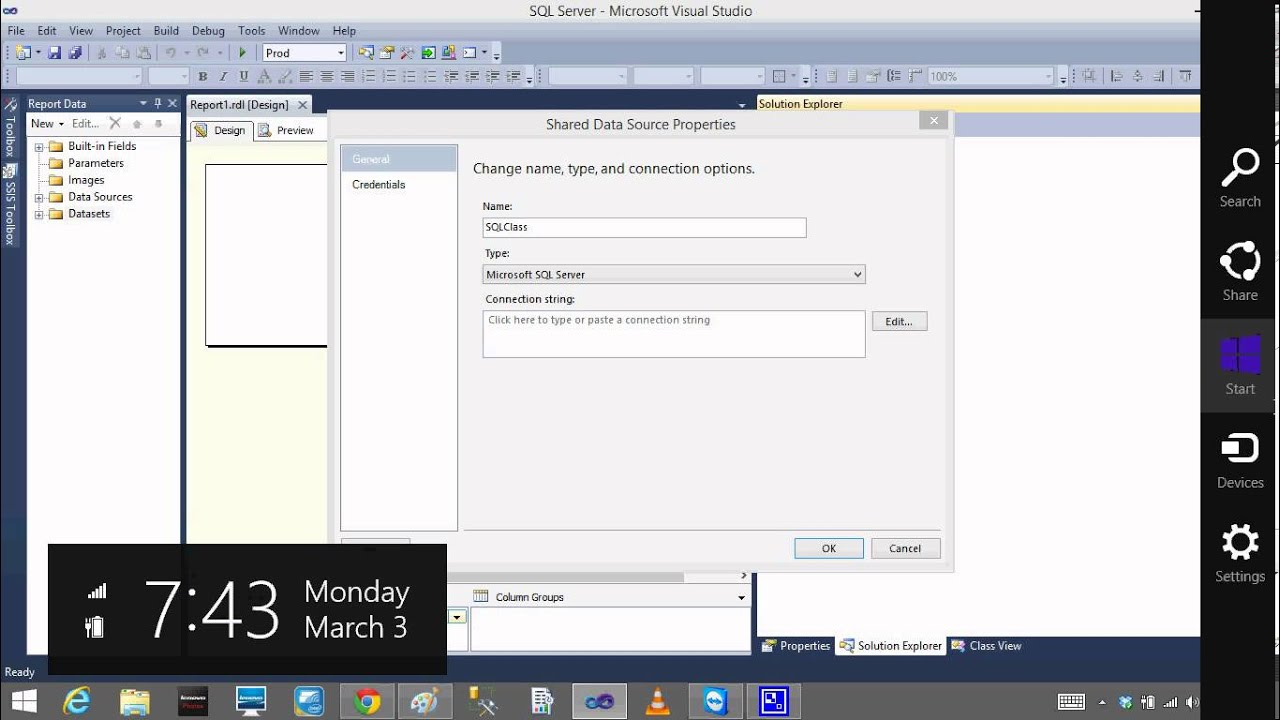 SQL SERVER SSRS Lesson3 Shared Data Sets and Shared Data Sources Bhaskar  Reddy Baddam