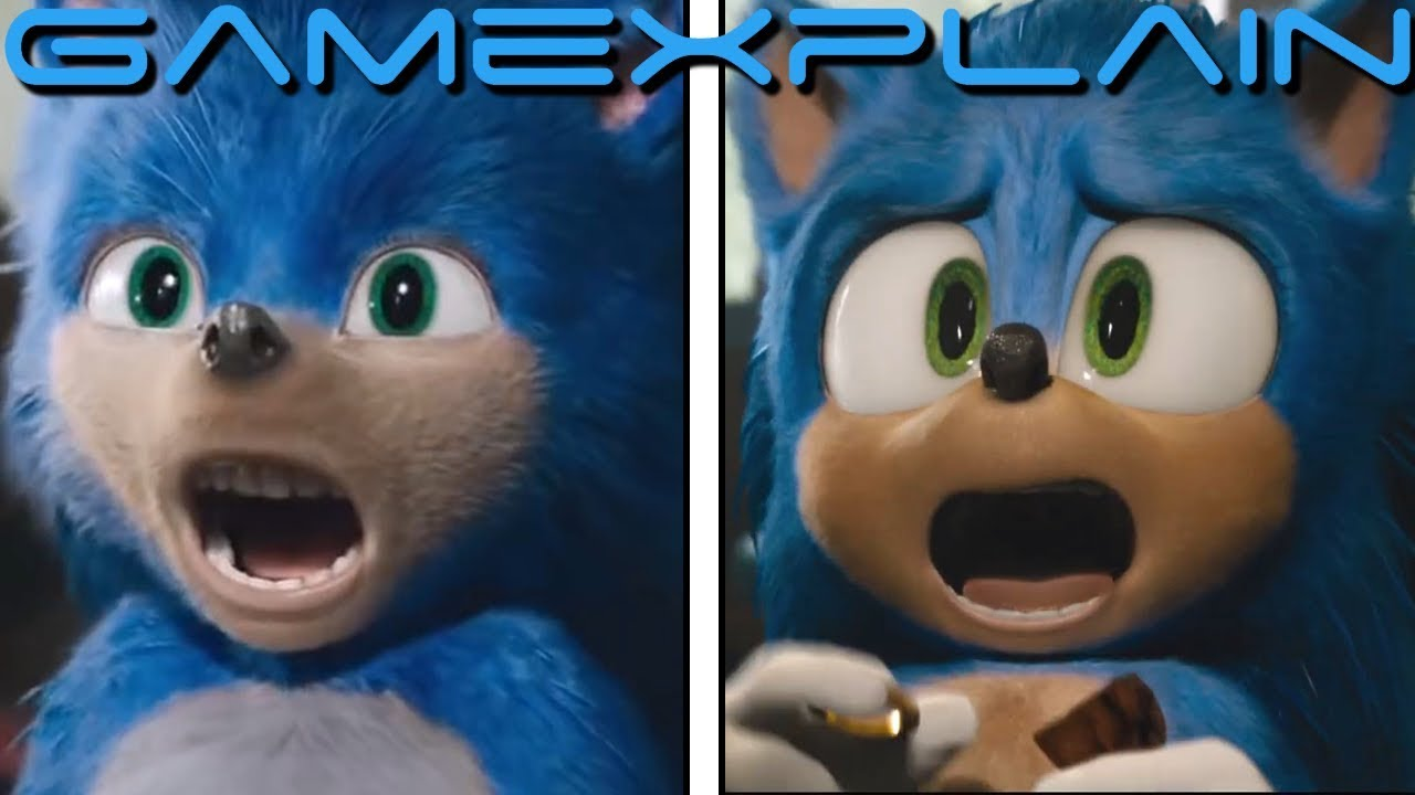 How Much Better Is Sonic S Redesign Head To Head Comparison Sonic The Hedgehog Movie Youtube