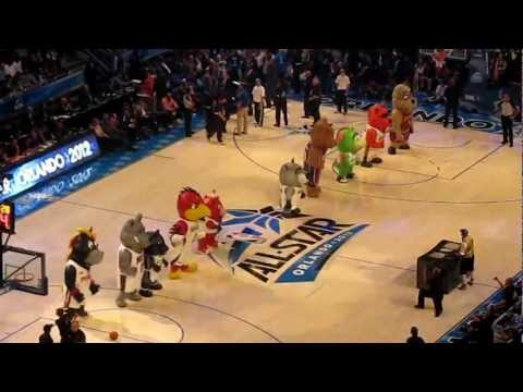 2012 NBA All Star Game Mascot Dance