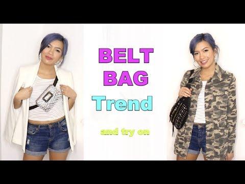 Belt Bag Haul and Try On || Zara, River Island, Boohoo || Bum Bag Fanny Pack Trend