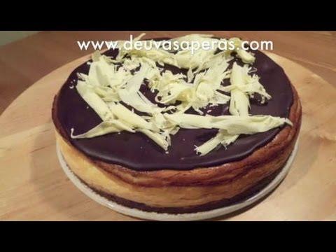 Tarta de queso y chocolate recetas de postres f ciles y for Postres faciles