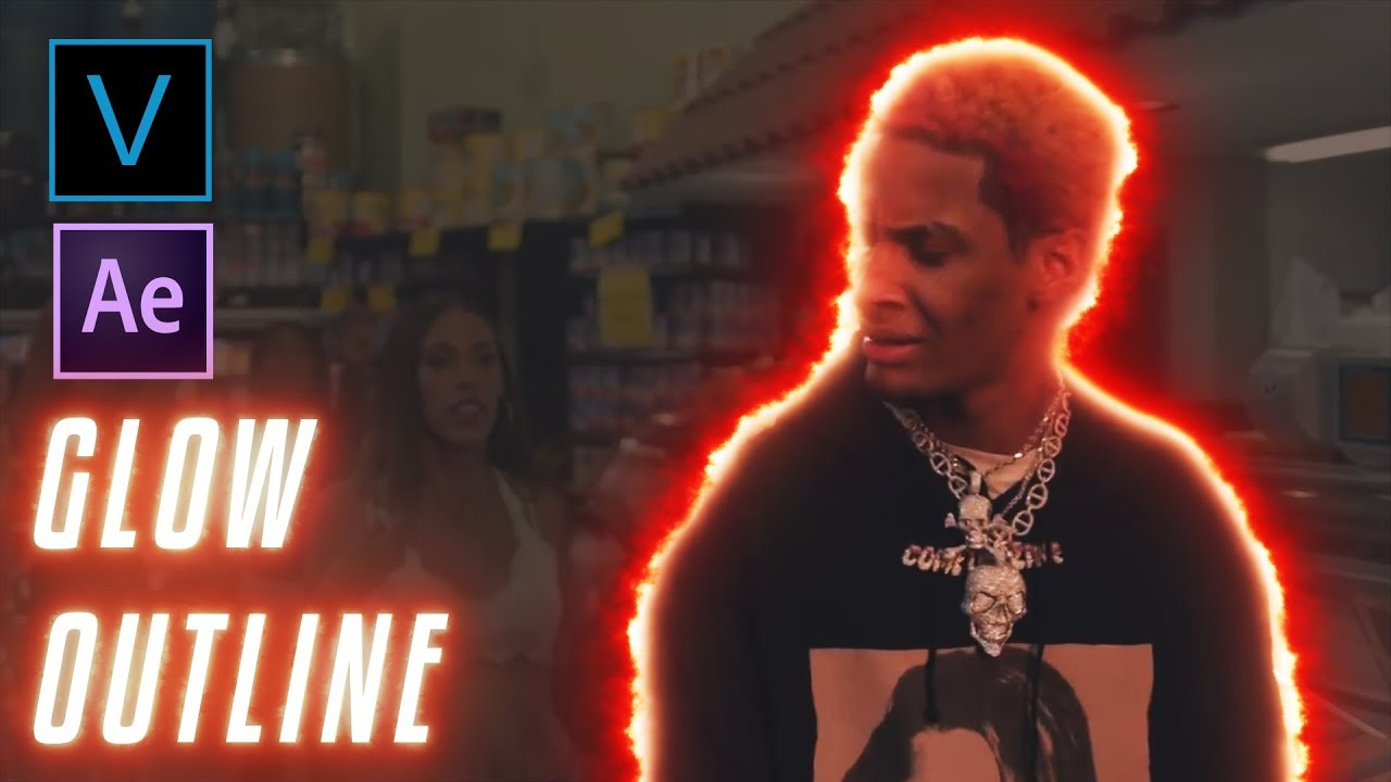 How To Glow/Burn Outline Effect (Music Video Effect)