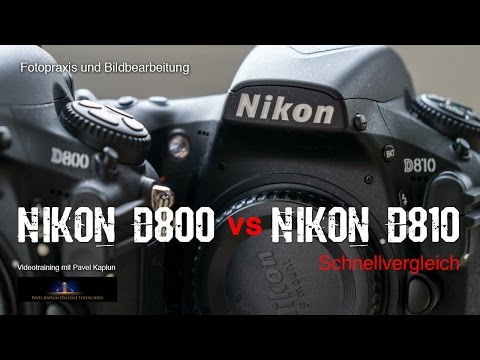 Schnellvergleich: Nikon D800 vs. Nikon D810