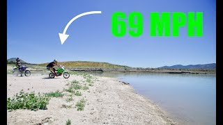 Hydroplaning My Pit Bike!!(FAIL)
