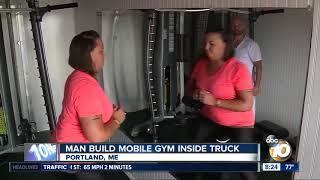 Man builds mobile gym inside truck - Portland, ME