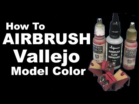 How to Airbrush Vallejo Model Color Tutorial