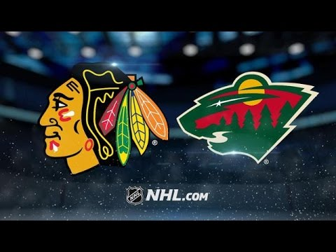 CHICAGO BLACKHAWKS VS MINNESOTA WILD HIGHLIGHTS 2/21