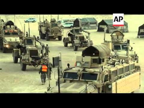 US Troops Arrive At Kuwait Camp After Iraq Withdrawal