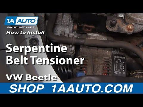 How to Replace Serpentine Belt Tensioner 98-05 Volkswagen Beetle