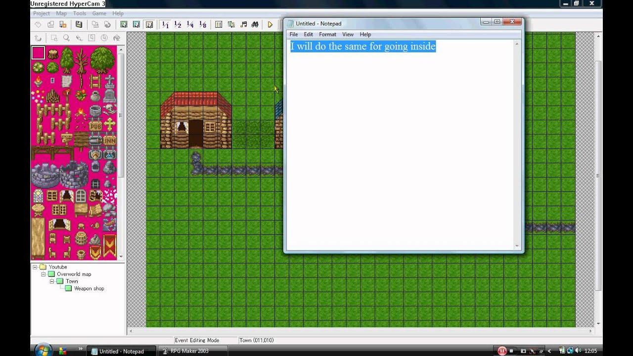 RPG Maker 2003 Tutorial - Events part 1