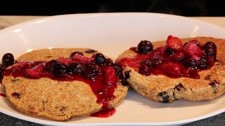 Blueberry Flaxseed Pancakes | Recipe