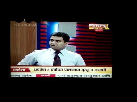 Major Vinay Degaonkar on Maharashtra1 channel