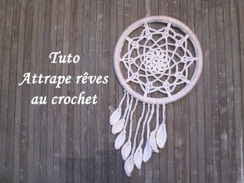 tuto attrape reves au crochet dream catcher crochet. Black Bedroom Furniture Sets. Home Design Ideas