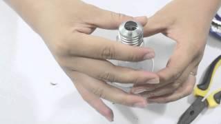 Cách bỏ ruột bóng đèn thủy tinh