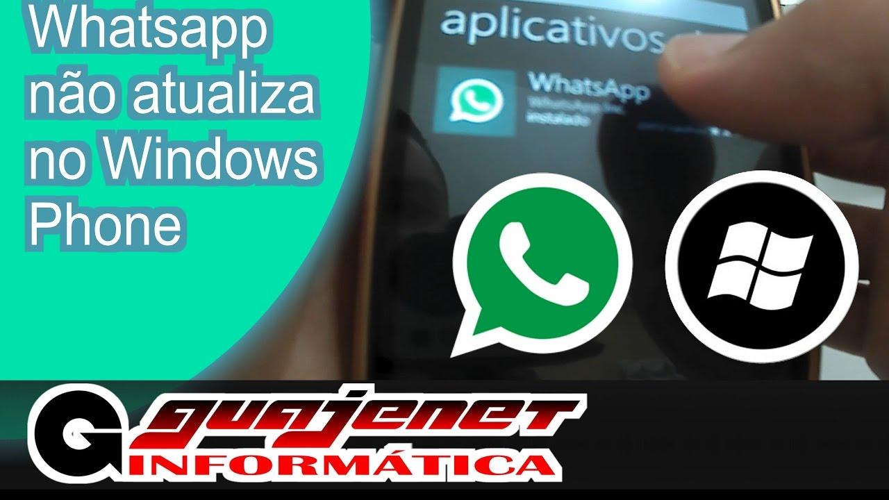 4a0c0a8cfe5 Whatsapp não atualiza no Windows Phone (Nokia/Microsoft) - RESOLVIDO -  YouTube