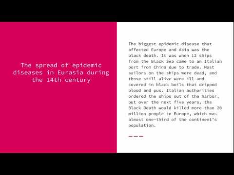 Comparing the Spread of Epidemics in Eurasia in the 14th & 16th Centuries