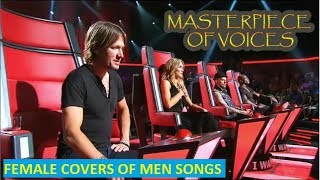 BEST FEMALE COVERS OF MEN SONG IN THE VOICE [PART 1:REUPLOAD]