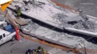 Miami'de üst geçit çöktü: En az 6 ölü
