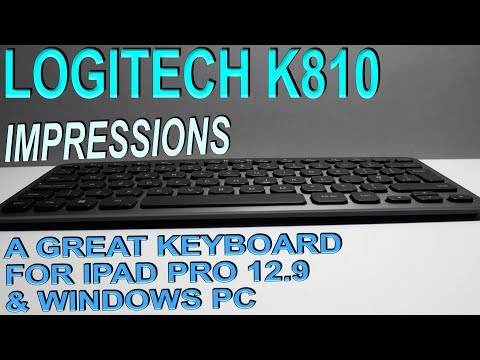 "Logitech K810 Backlit Bluetooth Keyboard » iPad Pro 12.9"" & Windows Pc"