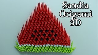Sandia / Watermelon Origami 3D TUTORIAL