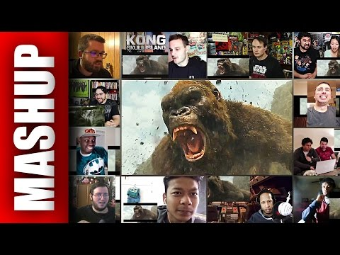 KONG: Skull Island Final Trailer Reactions Mashup