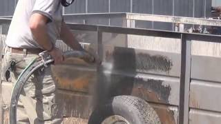 Dustless Blasting - Vehicle Trailer