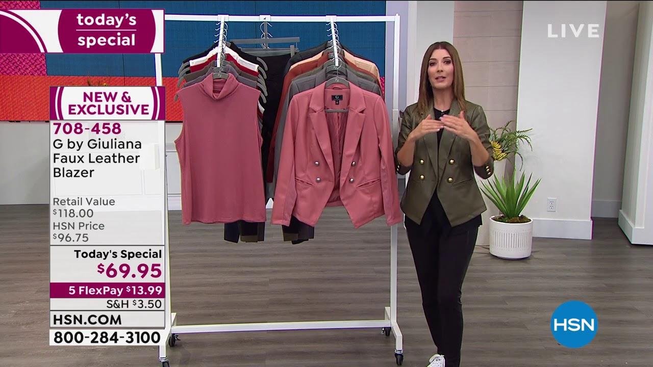 G Giuliana Faux Leather Blazer ALMOND L NEW 708-458