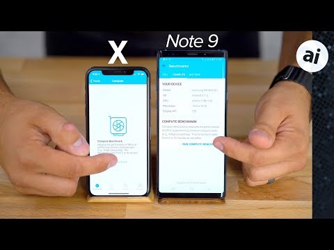 Note 9 vs iPhone X Benchmark Comparison - Disappointing..