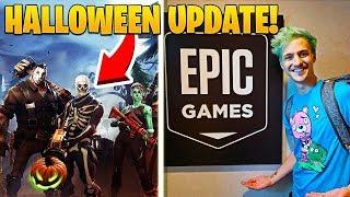 Ninja Visits Epic Games And Shares Info On Halloween Update!  Returning Skins?