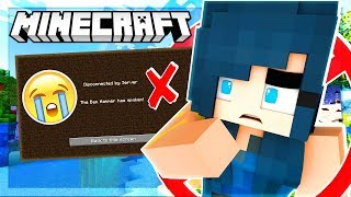 I GOT BANNED FROM MINECRAFT!