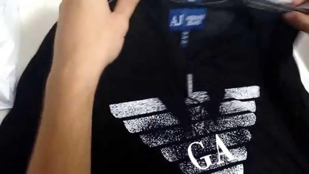 Unboxing camisa Armani jeans - YouTube 46c175f34b3