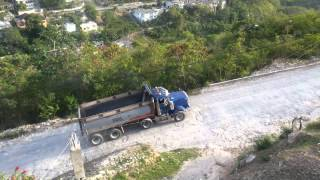 Peterbitlt 357 Dump Truck Going Up Hill