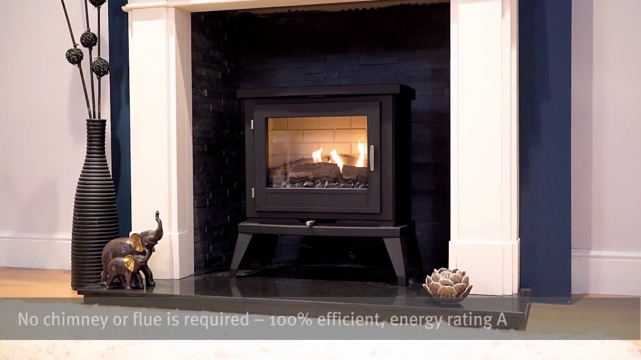 doughton flueless gas stove youtube. Black Bedroom Furniture Sets. Home Design Ideas