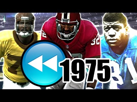 What If The NFL Rewinded Back 40 Years? Madden NFL 17 Challenge