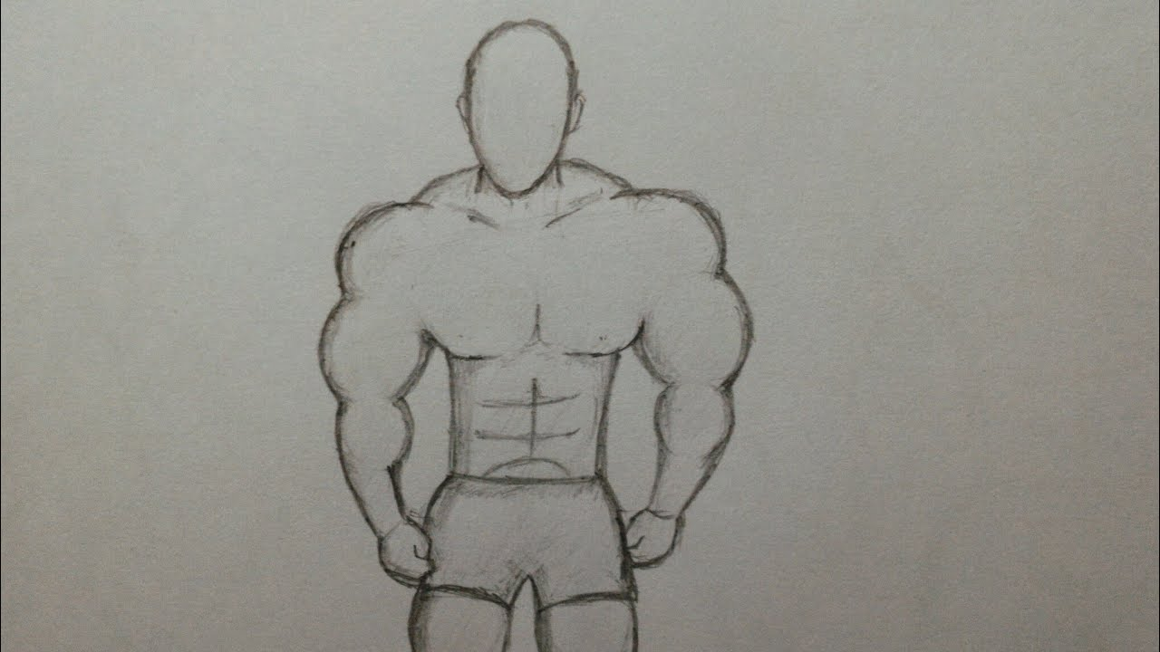 How To Draw Muscle Man Body Easily - Learning