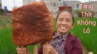 Bà Tân Vlog - Nướng Tảng Thịt Lợn Khổng Lồ Siêu Cay