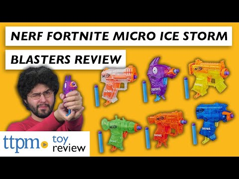 Nerf Fortnite Micro Ice Storm Blaster 2020 Toy Review From Hasbro