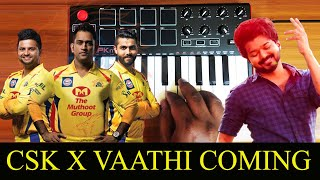 Csk x Vaathi Coming Theme | Kuthu Mix By Raj Bharath