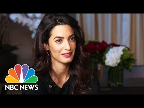 Amal Clooney Vows To Bring ISIS To Justice...