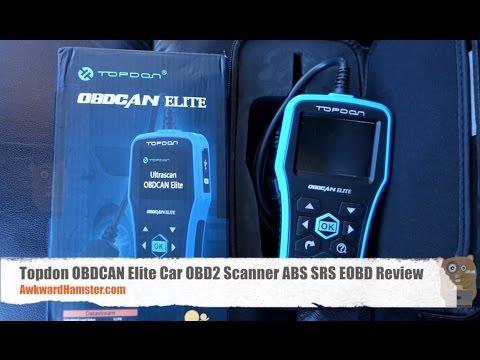 Topdon OBDCAN Elite Car OBD2 Scanner ABS SRS EOBD Review