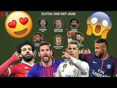 Het Elftal van het Jaar: Messi + Ronaldo + Salah + Neymar in 1 Team! WOW!