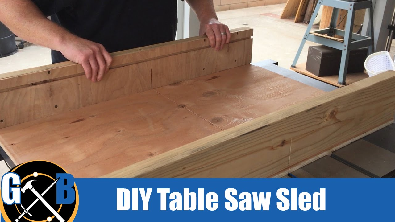 Make a simple table saw sled in an afternoon build for Table saw sled