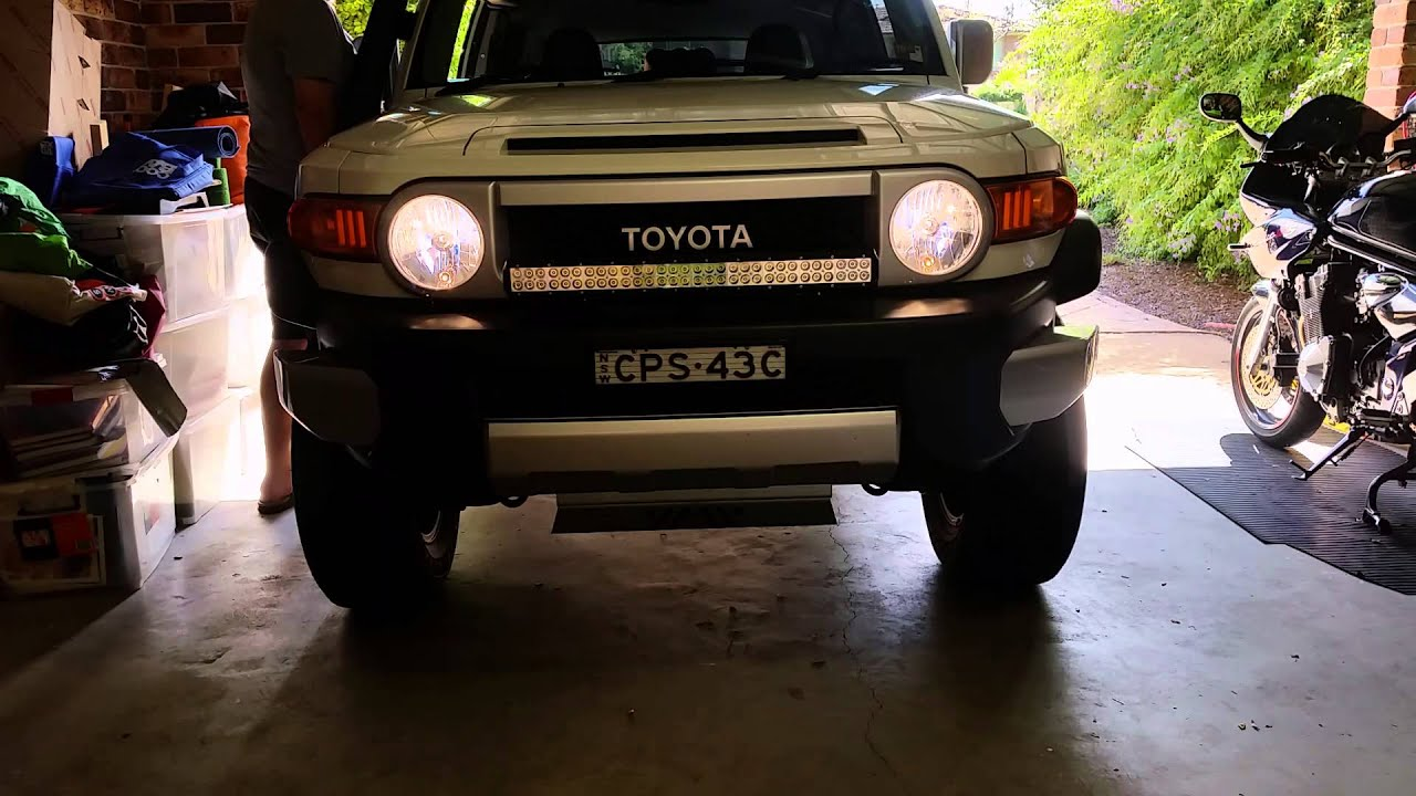 FJ Cruiser With LED Light Bar.