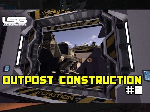 Space Engineers - Planetary Outpost Construction (PTE)#2