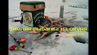 Зимняя рыбалка на окуня Краткий отчёт о рыбалке 27 11 20